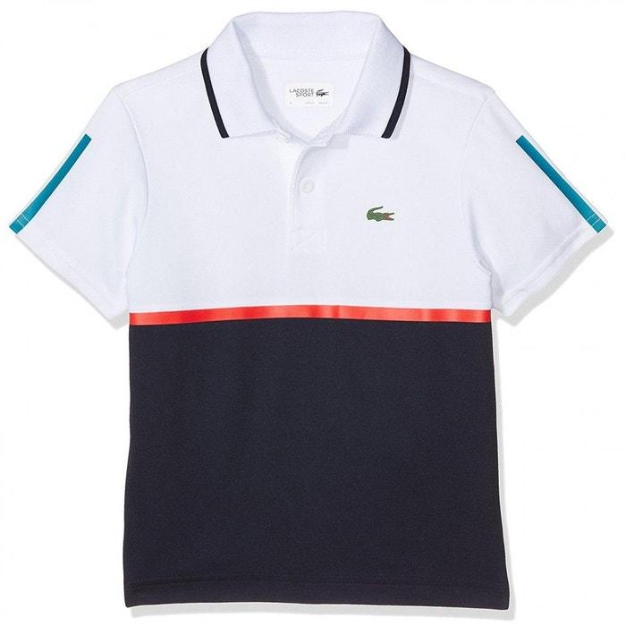 8cdafae322 Polo junior polyester blanc Lacoste | La Redoute