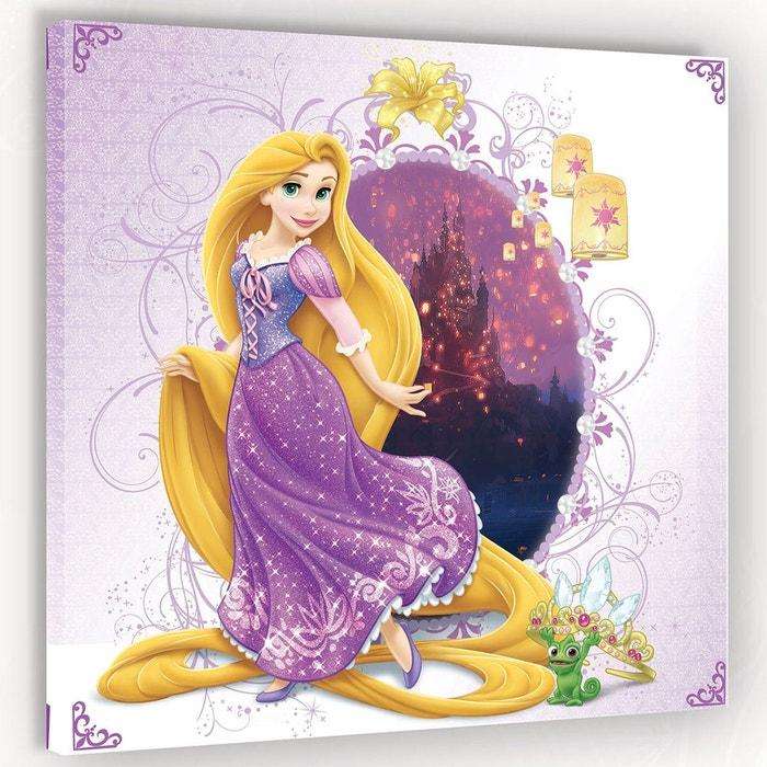 Tableau princesse raiponce disney 80 x 80 cm violet - La princesse raiponce ...