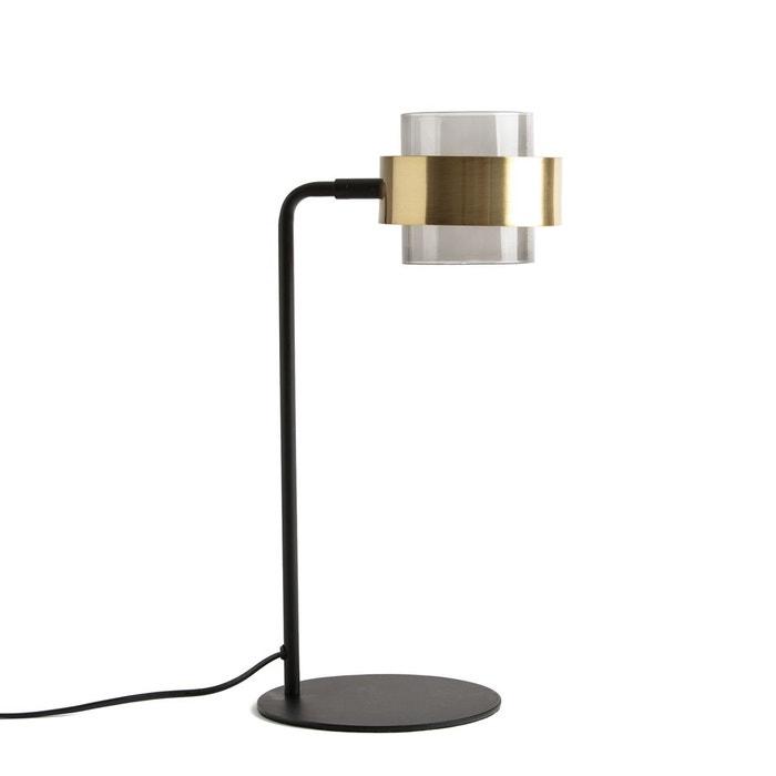 lampe poser verre et m tal botello noir laiton la redoute interieurs la redoute. Black Bedroom Furniture Sets. Home Design Ideas
