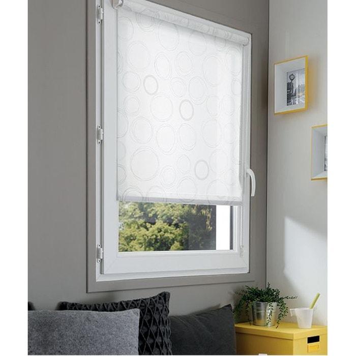 store enrouleur tamisant sans percer rond crayonn blanc madeco la redoute. Black Bedroom Furniture Sets. Home Design Ideas