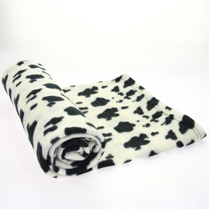 plaid polaire jungle 130 x 160 cm taches blanches et noires blanc atmosphera la redoute. Black Bedroom Furniture Sets. Home Design Ideas