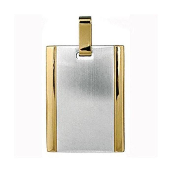 Pendentif homme plaque gi bicolore acier inoxydable couleur unique So Chic Bijoux | La Redoute Le Plus Grand Fournisseur DShOf