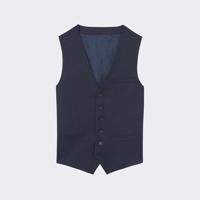 gilet de costume bleu marine dark navy devred la redoute. Black Bedroom Furniture Sets. Home Design Ideas