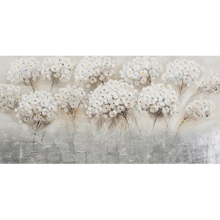Tableau 70x140 bouquets de fleurs blanches blanc pier import la redoute - Tableau triptyque fleurs blanches ...