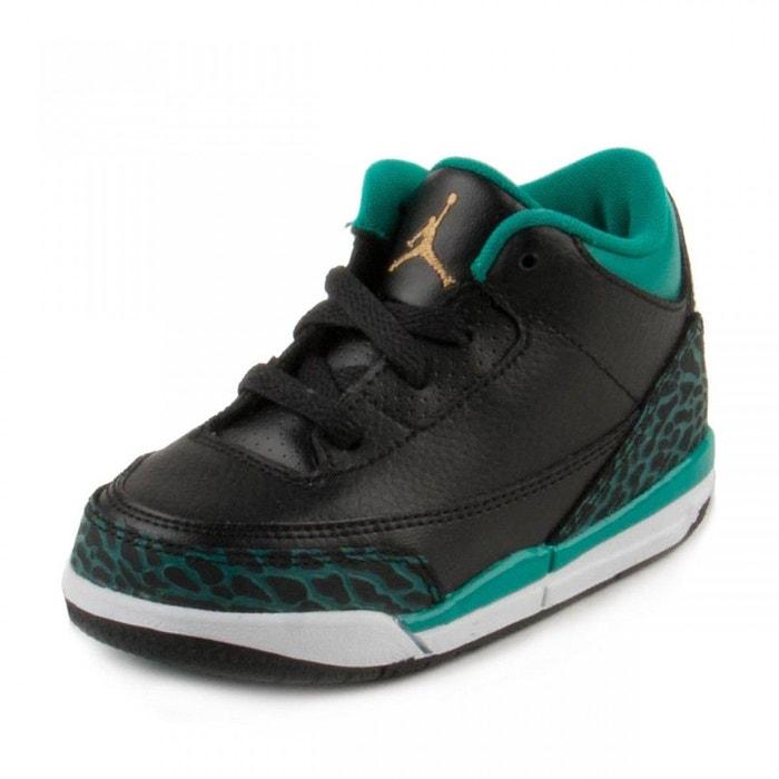 new product b4ffa 0c328 Basket nike air jordan 3 retro td bébé - 654964-018 noir Nike   La ...