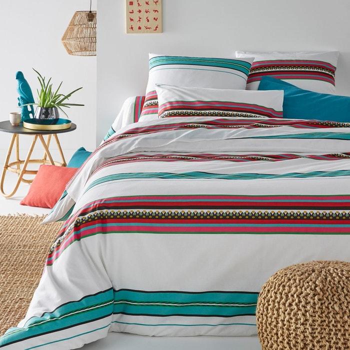 housse de couette imprim e nazca blanc la redoute. Black Bedroom Furniture Sets. Home Design Ideas