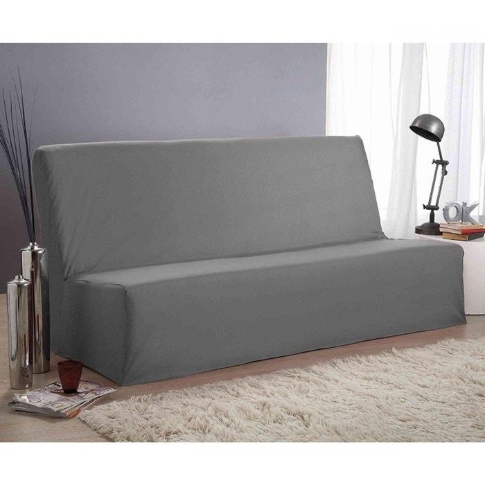 housse clic clac grise 140x190 terre de nuit gris terre. Black Bedroom Furniture Sets. Home Design Ideas