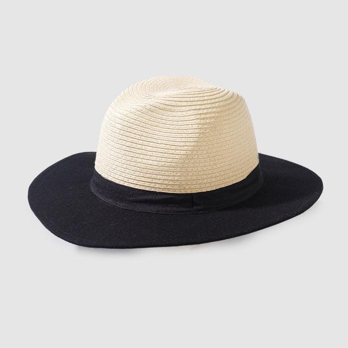 Image Dwukolorowy słomiany kapelusz panama R studio