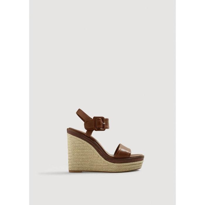Sandales compensées suédine MANGO image 0