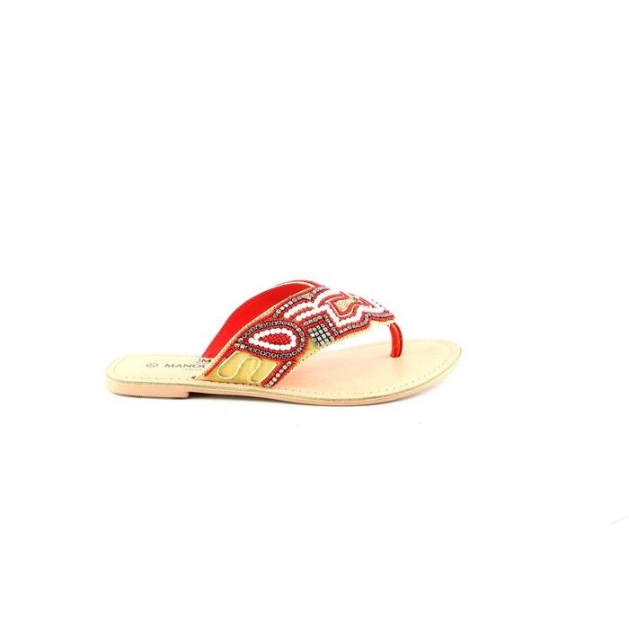 3935 rouge rouge Manoukian Shoes