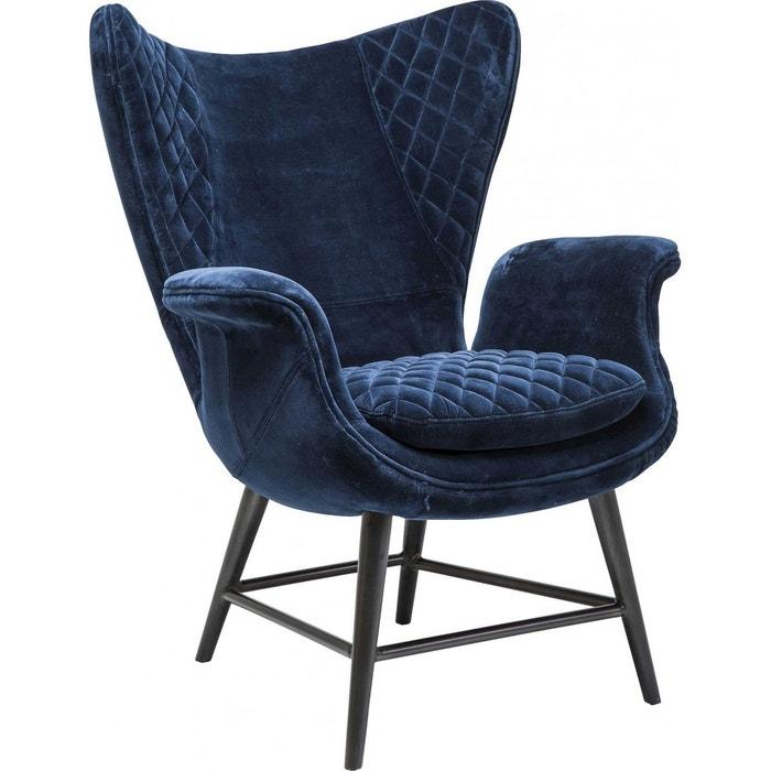 Fauteuil design tudor velours bleu kare design bleu Kare Design | La ...