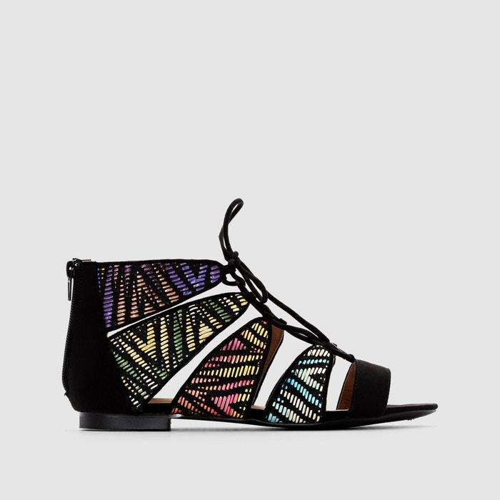 Image Flat Lace-Up Sandals R édition
