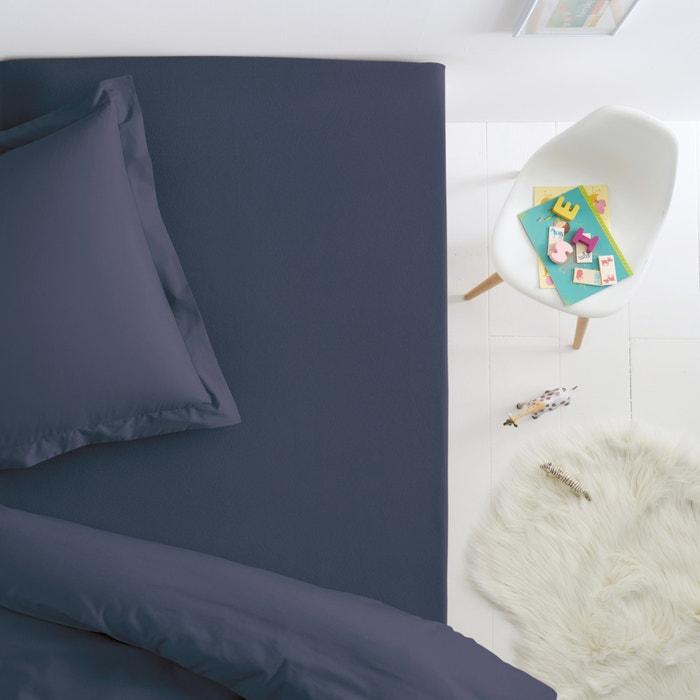 drap housse jersey pur coton pour lit enfant scenario bleu orage la redoute. Black Bedroom Furniture Sets. Home Design Ideas