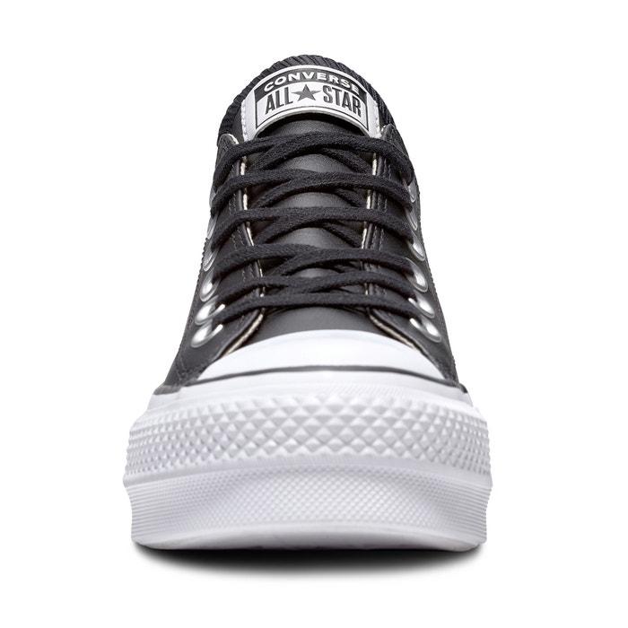 Lift CONVERSE piel Zapatillas Clean con a 243;n tac CTAS de de cu qw6CRU