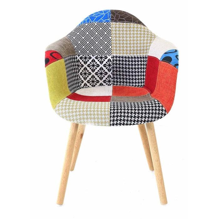 fauteuil patchwork x2 multicolore inwood la redoute. Black Bedroom Furniture Sets. Home Design Ideas