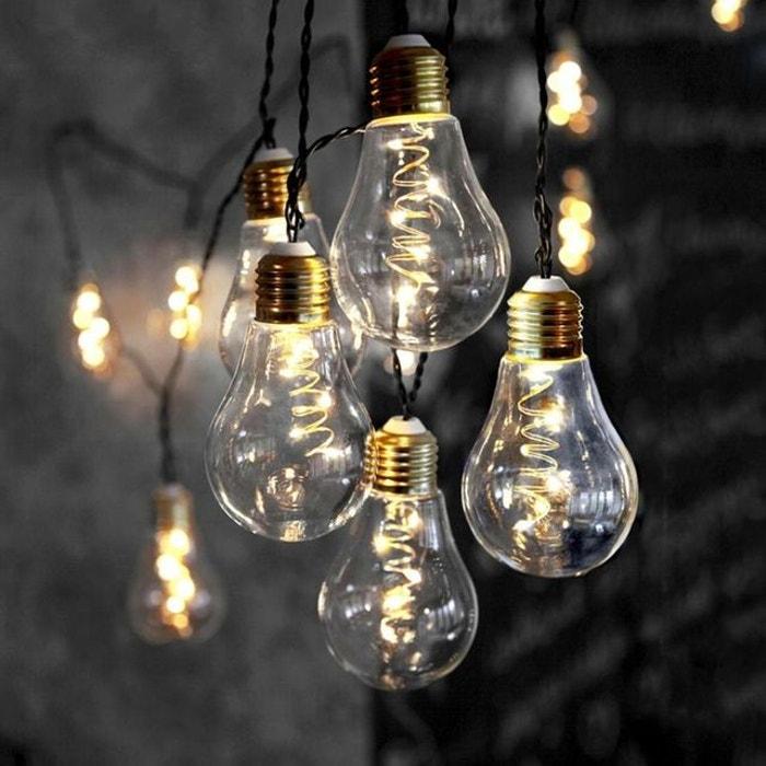 GLOW-Guirlande ampoules 10 LED L5m  XMAS LIVING GLASS image 0