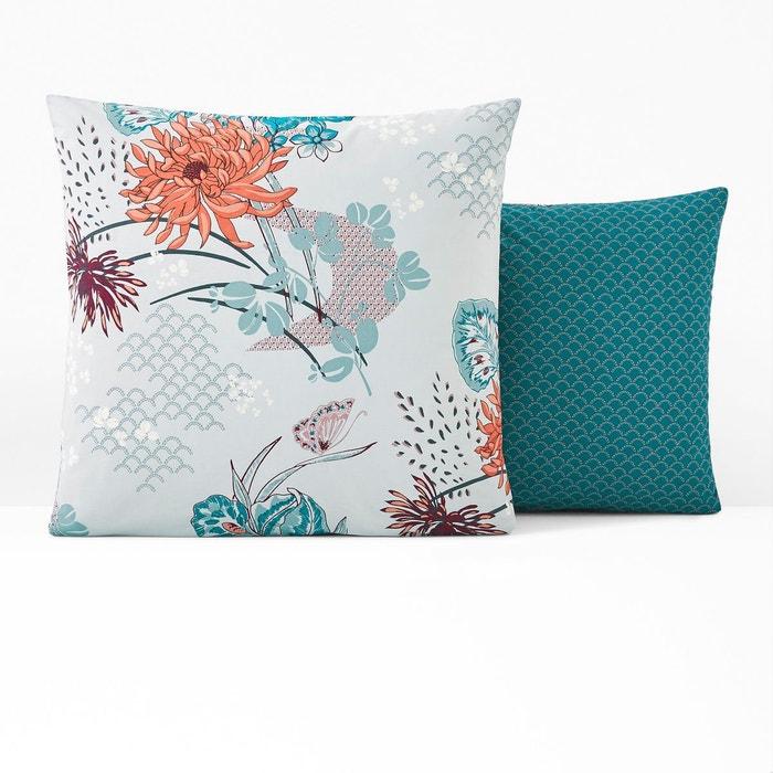 taie d 39 oreiller percale chinese flower imprim fleurs la. Black Bedroom Furniture Sets. Home Design Ideas