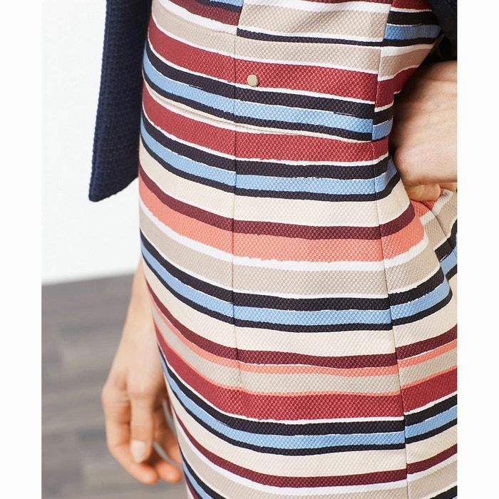 a rayas multicolores Vestido con ESPRIT corte ajustado vqTZ1nxw