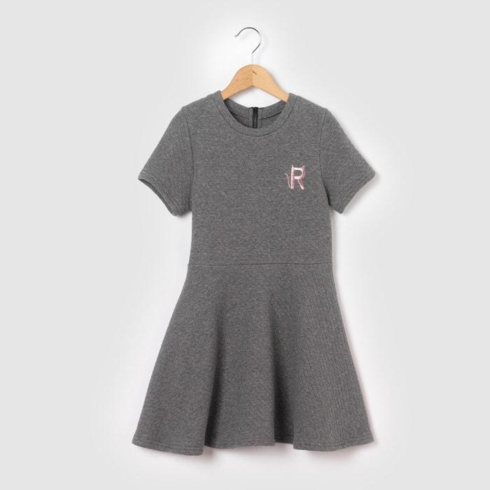 Vestido em moletão com relevo, 3-12 anos abcd'R