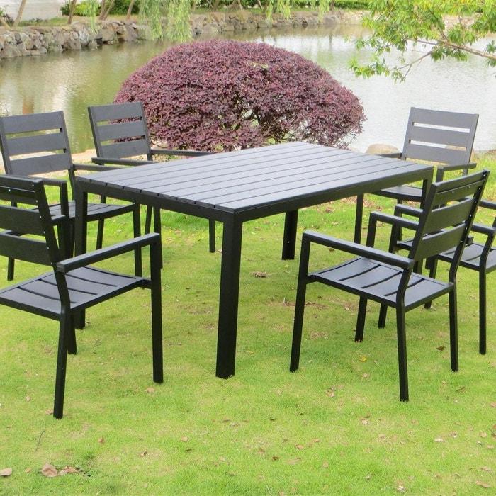 Salon de jardin polywood 6 places, anzio 6 gris anthracite Concept ...