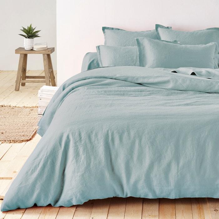 68f5176335 100% washed linen plain duvet cover La Redoute Interieurs | La Redoute