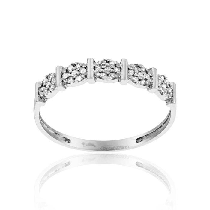 Bague or 375/1000 diamant blanc Cleor | La Redoute 2018 Pas Cher En Ligne Explorer Prix Pas Cher De La France À Faible Frais D'expédition a1U5a