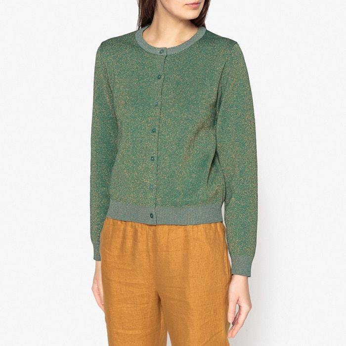 Odilon Two-Tone Glitter Knit Button-Through Cardigan  HARRIS WILSON image 0