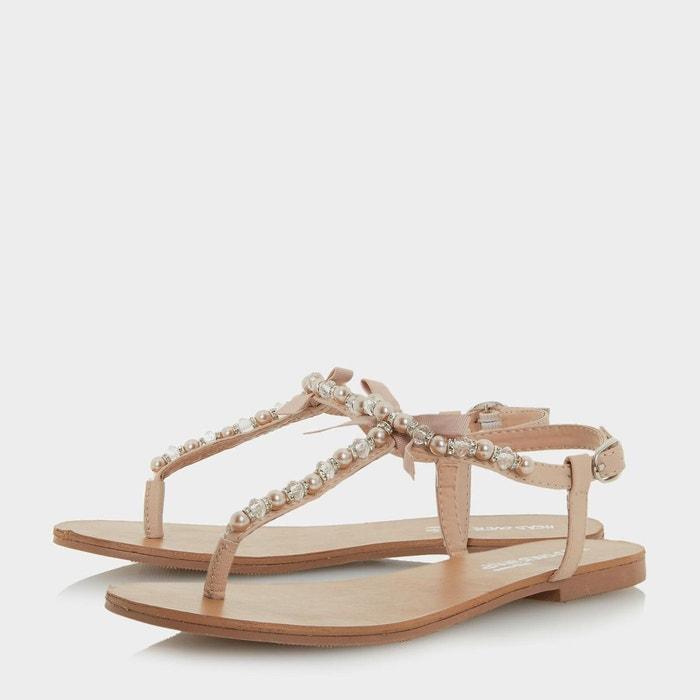 Sandales plates style salomé avec bordure à perles - leonia Head Over Heels By Dune
