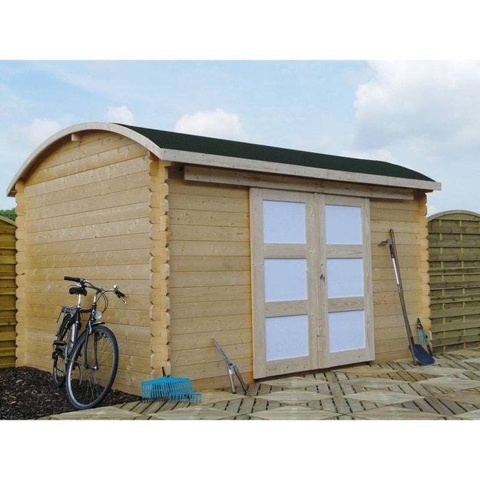 Abri jardin bonneville m x m 28 mm bois clair h j habitat et jardin for Abri de jardin en bois la redoute