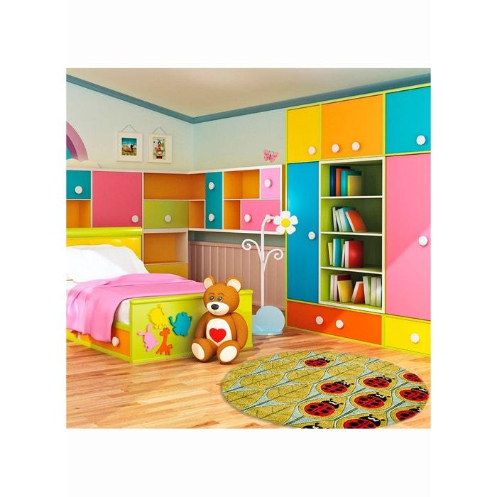 tapis lady bug jaune tapis enfants 120 x 185 cm jaune lil mo la redoute. Black Bedroom Furniture Sets. Home Design Ideas