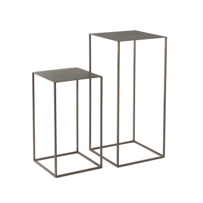 omyxie metal console tables set of 2 gun metal am pm la redoute. Black Bedroom Furniture Sets. Home Design Ideas