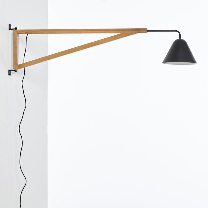 Applique forme potence fr ne et m tal cotapi la redoute interieurs noir l - La redoute luminaire ...