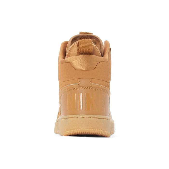 Baskets montantes court borough mid winter camel Nike
