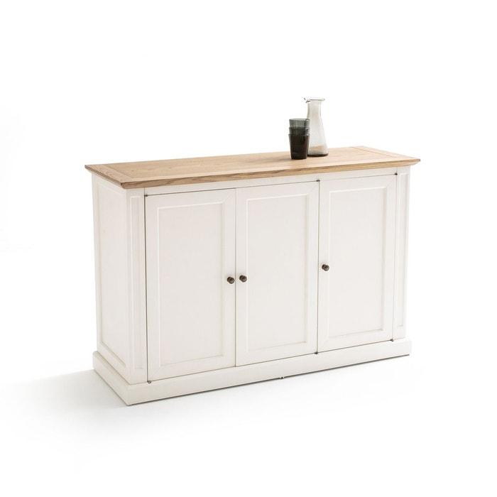 buffet 3 portes adelia blanc la redoute interieurs la redoute. Black Bedroom Furniture Sets. Home Design Ideas