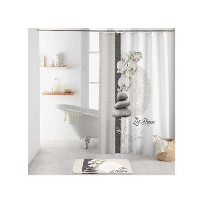 rideau de douche zen attitude blanc home bain la redoute. Black Bedroom Furniture Sets. Home Design Ideas