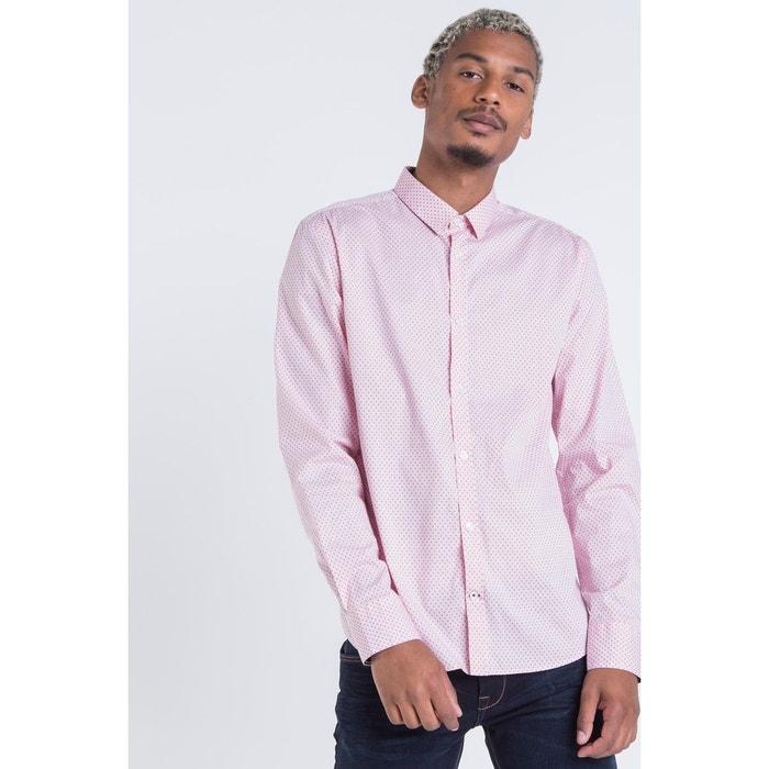chemise homme imprim triangle rose pastel bonobo la redoute. Black Bedroom Furniture Sets. Home Design Ideas