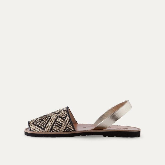 Sandales plates bicolores AVARCA RAFIA - MINORQUINES - BlancMinorquines T1vzs