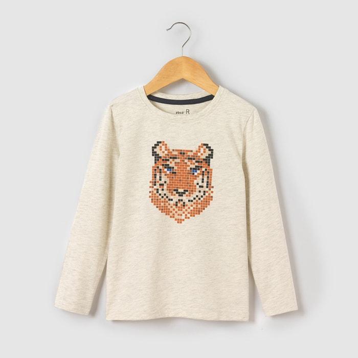 Image T-shirt manches longues imprimé tigre 3-12 ans La Redoute Collections