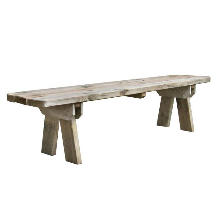 Banc de jardin 4 places en bois traité autoclave, faro bois clair ...