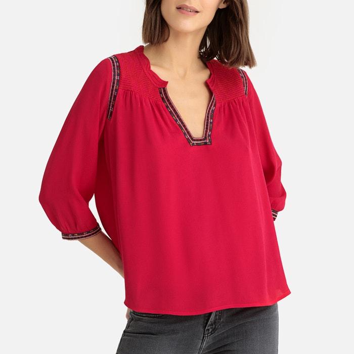 842b4ad587445e Cime grandad collar blouse , red, Ba&Sh | La Redoute