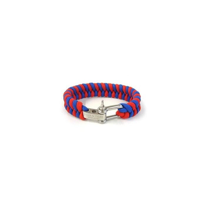 Bracelet, tissé tyler and tyler zig zag rouge et bleu rouge Tyler Et Tyler   La Redoute