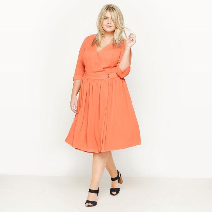 robe cache coeur fronces orange clair castaluna la redoute. Black Bedroom Furniture Sets. Home Design Ideas