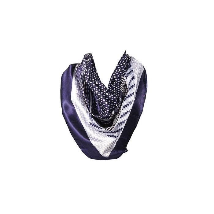 Foulard motif bleu avec sa pochette cadeau bleu marine Versace 19.69 | La Redoute Pas Cher Nice xtjLL7