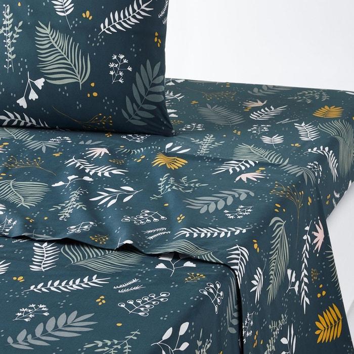 drap plat percale coton suzanne imprim bleu la redoute. Black Bedroom Furniture Sets. Home Design Ideas
