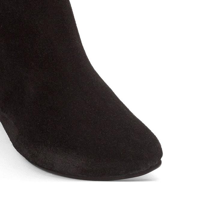 Boots cuir détail croquets La Redoute Collections