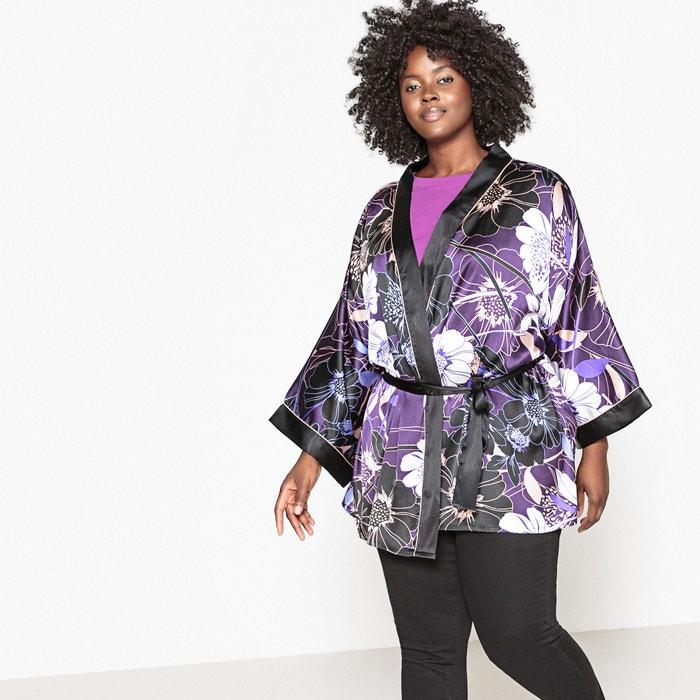 Giacca stile kimono in satin fantasia  CASTALUNA image 0