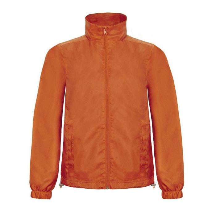 Blouson classique leger en nylon avec capuche et doublure orange Fashion  Cuir   La Redoute ee2259c2959e