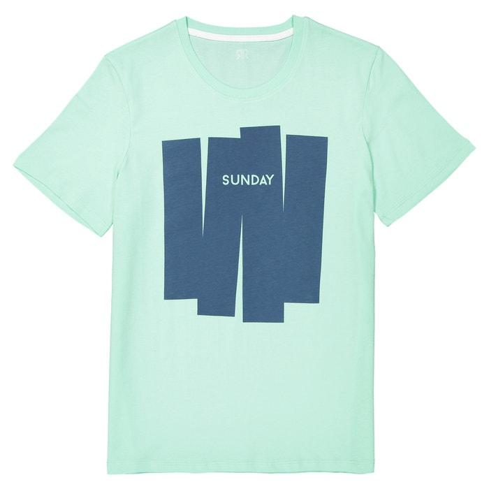 motivo redondo La Redoute cuello con de Camiseta delante Collections xSfaq67C