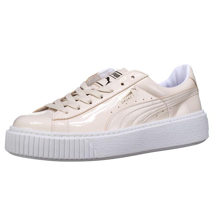 Baskets platform patent beige Puma