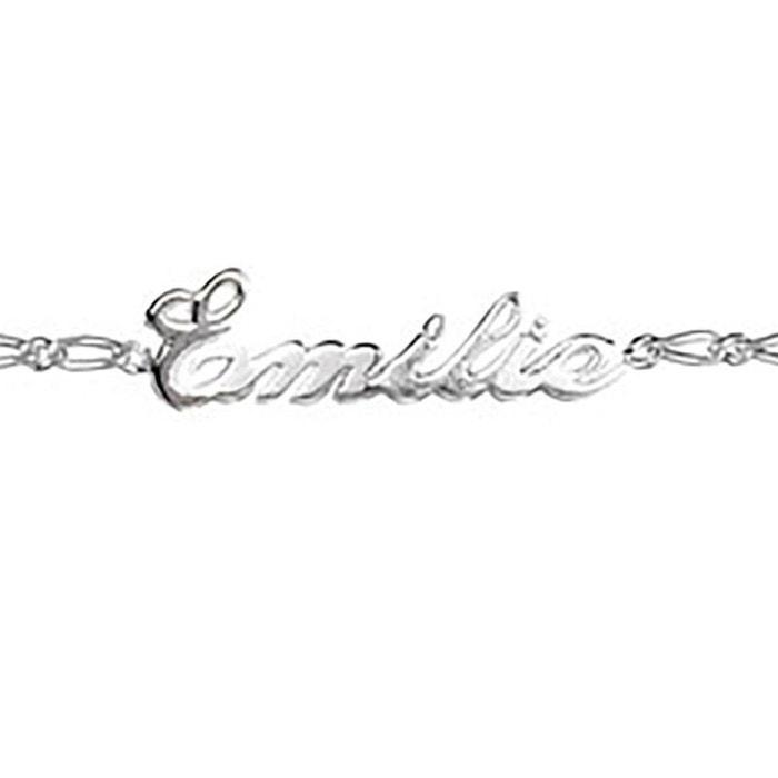 Bracelet longueur réglable: 17 à 18,5 cm gourmette maille 1 + 1 ciselée anglaise couleur unique So Chic Bijoux | La Redoute